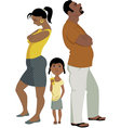 Family conflict affects children vector image
