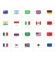Flags of the world vector image