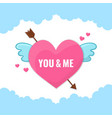heart with wings and arrow vector image