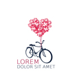 Retro bicycle with heart balloon vector image