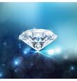 Shiny diamond background vector image