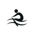 Rowing icon monochrome on white background vector image