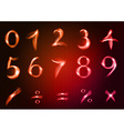 abstract numbers red vector image vector image
