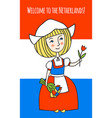 welcome to netherlands vector image