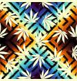 rastafarian grunge hemp leaves vector image