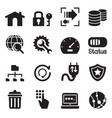 ftp server and hosting icon set vector image