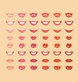 glamorous glossy shining female lips in light vector image