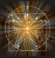 Vitruvian man in pentagram vector image vector image