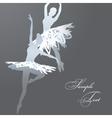 Snowflake ballet dancers vector image vector image