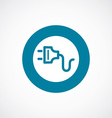 electrical plug icon bold blue circle border vector image