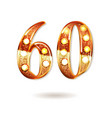 60 years gold anniversary vector image