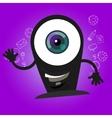 camera webcam big eyes character cartoon smile vector image
