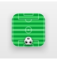 Square icon of football sport vector image