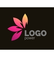Colorful leaves logo design Four leaves logotype vector image