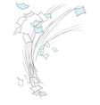 Scatter sheets of paper vector image