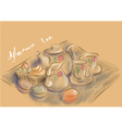 afternoon tea party vector image