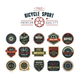 Bicycle set badges logos and labels vector image