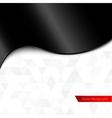 Black silk or plastic shiny wave background vector image