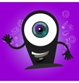 camera webcam big eyes character cartoon smile vector image