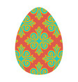 easter egg isolated traditional decoration food vector image