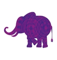elephant indian isolated icon vector image