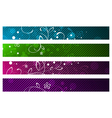 Floral Abstract Banner Set vector image