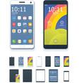generic smartphones and tablet computers vector image