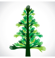 green hand tree vector image