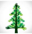 green hand tree vector image