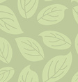 Green leaves seamless pattern Natural retro vector image