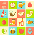 icons for Rosh Hashanah vector image