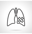 Lungs diseases simple line icon vector image