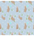 seamless pattern with rabbit vector image