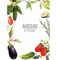 Watercolor menu template vector image
