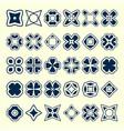set of creative original design elements vector image