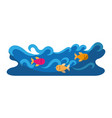 Waves river isolated icon vector image