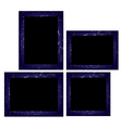 Set of photo frames Isolated on white background vector image