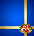 Ribbon and bells template vector image vector image