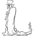 vampire cartoon for coloring book vector image vector image