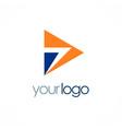 arrow shape logo vector image