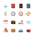 Travel Icons for application vector image