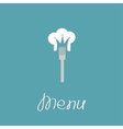 Fork and chef hat shape of crown Menu cover Flat vector image