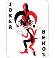 Joker card design vector image vector image