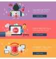 Flat design concepts for internet security vector image