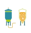 Infographics technology of beer production vector image