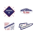 Set of label Independence day vector image