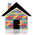 A colorful house vector image