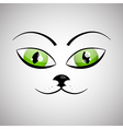 Abstract Cat Face vector image