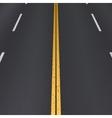 Asphalt highway perspective view vector image