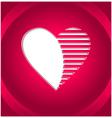 Creative Heart button vector image